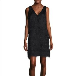 UNWORN LAUNDRY BY SHELLI SEGAL BLACK FRINGE DRESS